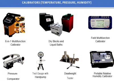 CALIBRATORS (TEMPERATURE, PRESSURE, HUMIDITY)