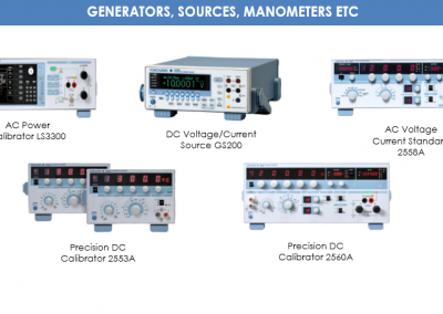 GENERATORS, SOURCES, MANOMETERS ETC
